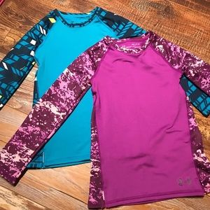 EUC Girls Under Armour Cold Gear Shirts YSmall